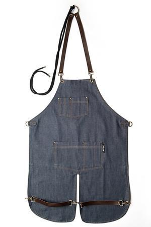 AMERICANO Denim blue jeans con inserti in pelle