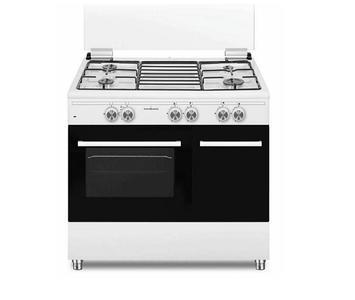 Cucina Gas SS490GEW SCHAUB LORENZ 4 Fuochi a Gas Forno Gas Classe A Dimensioni 90 x 60 Bianco
