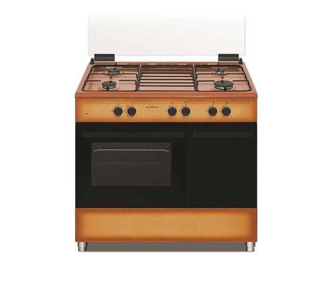 SCHAUB LORENZ Cucina Gas 4 Fuochi a Gas Forno Gas Classe A Dimensioni 90 x 60 MOKA SS490GEB