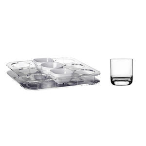 Set Aperitivo Vassoio + 6 Bicchieri e Ciotole Snacks - Serie Party di Marine Business - Offerta di Mondo Nautica 24