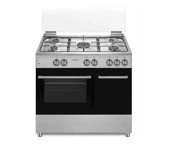 SCHAUB LORENZ Cucina a gas 5 fuochi Forno Elettrico con Grill Elettrico 90x60 INOX SS590EX