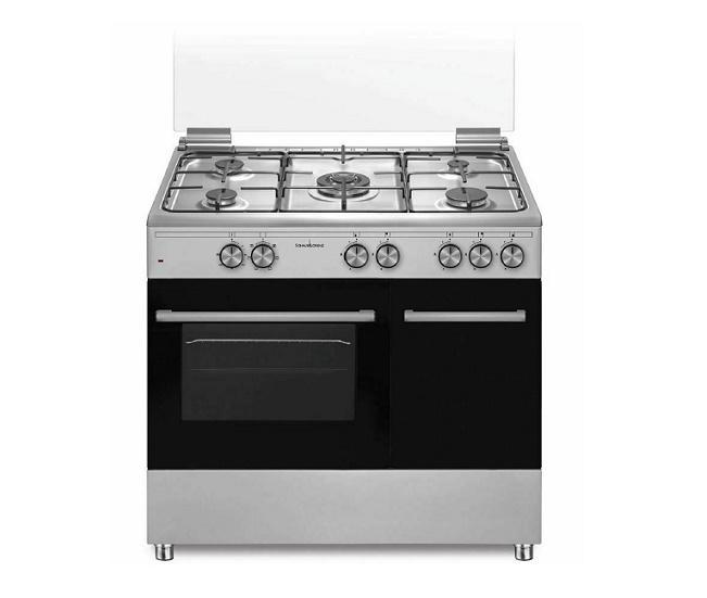 SCHAUB LORENZ Cucina Gas 5 Fuochi a Gas Forno Elettrico Classe A 90 x 60 Inox SS590EX