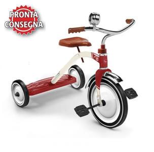 """Triciclo in Metallo """"Rosso Vintage"""" per Bambini della Linea Baghera 860"""