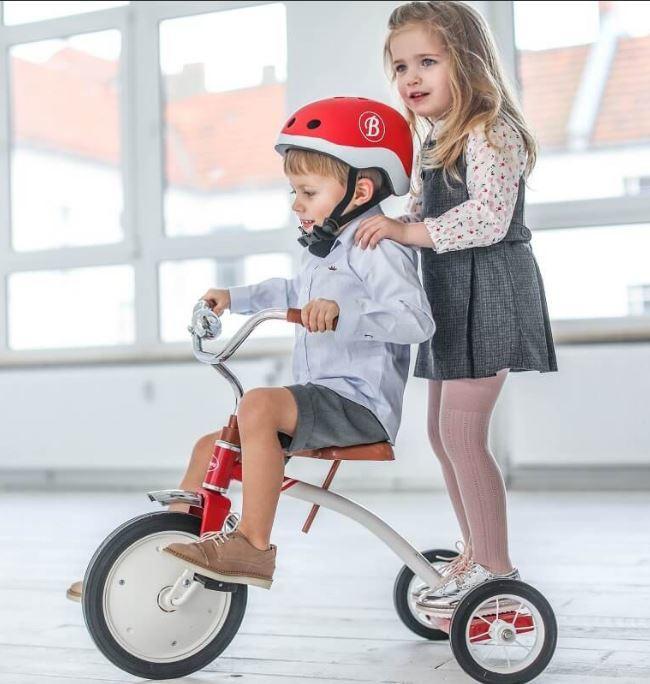 """Triciclo in Metallo """"Rosso Vintage"""" per Bambini della Linea Baghera"""