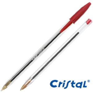 Penna sfera CRISTAL® medio 1,0mm rosso BIC®