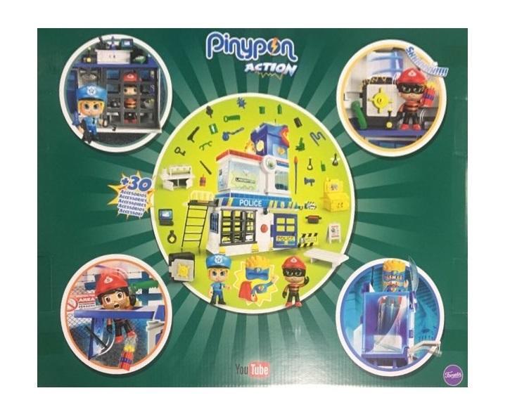 Pinypon Action Stazione di Polizia con 2 personaggi Mix&Match 4+
