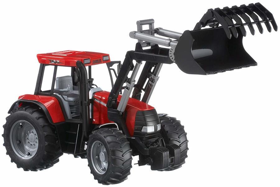 Trattore Case CVX170 con pala tronchi e carro di trasporto 1:16 Bruder 00954