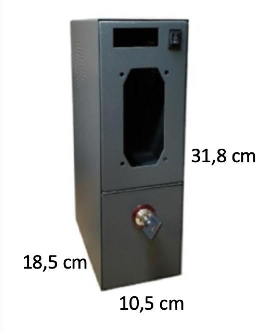 Box per KIT Gettoniera con cassetto portamonete e serratura