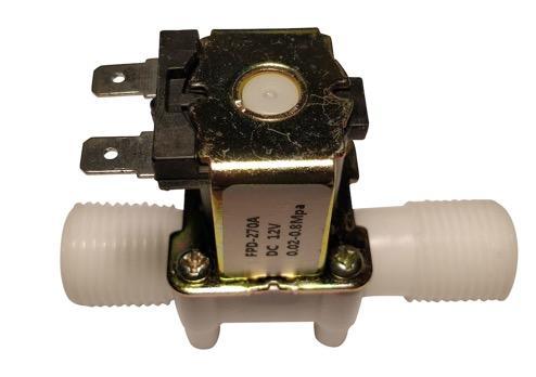 Elettrovalvola H2O con bobina a 12Vcc / attacchi da 1/2''