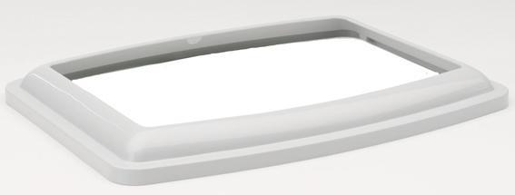 Cassetta Igienica Ovale con bordo - Giallo