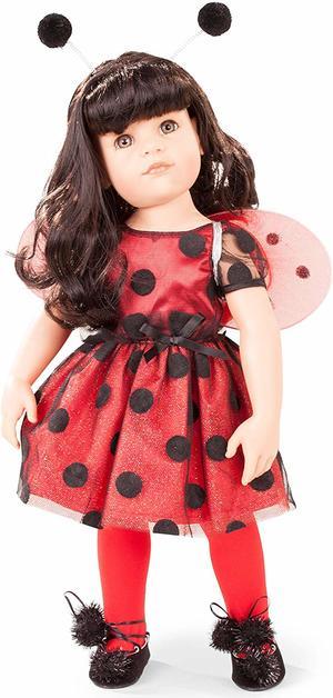 Bambola in Vinile Hannah Ladybug in  Edizione Numerata Originale di Gotz qualità Made in Germany