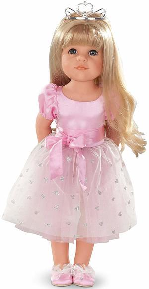 Bambola in Vinile Hannah vestita da principessa in  Edizione Numerata Originale di Gotz qualità Made in Germany