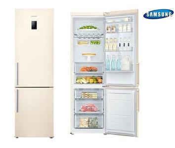 SAMSUNG frigorifero combinato 367lt A++ SABBIA Total No Frost RB37J5315EF