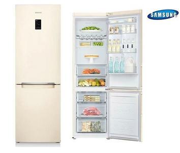 SAMSUNG frigorifero combinato 304lt A++ SABBIA RB31FERNCEF