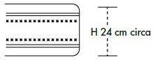 Materasso Molle Insacchettate Mod Prestige 3000 Molle Climatizzato  con Memory Cm 5 da Cm 105x190/195/200 -Ergorelax