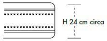 Materasso Molle Insacchettate Mod Prestige 3000 Molle Climatizzato  con Memory Cm 5 da Cm 170x190/195/200 -Ergorelax