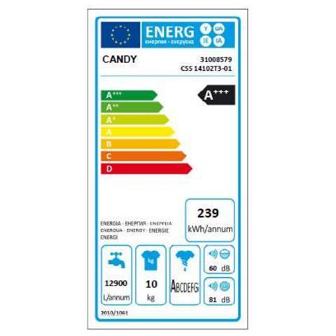 CANDY lavatrice 10KG A+++ 1400 g/m CSS14102TE-11