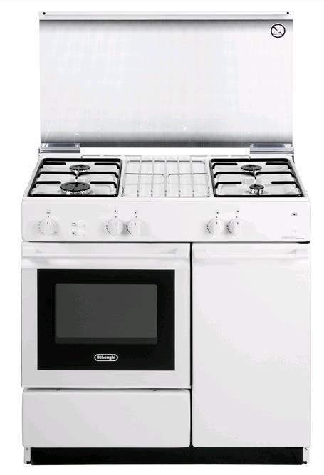 DE LONGHI cucina a gas 86X50 BIANCA FG+GE SGGW854