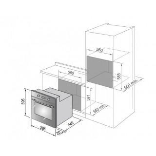 DE LONGHI forno ad incasso elettrico multifunzione INOX/NERO FLM6X