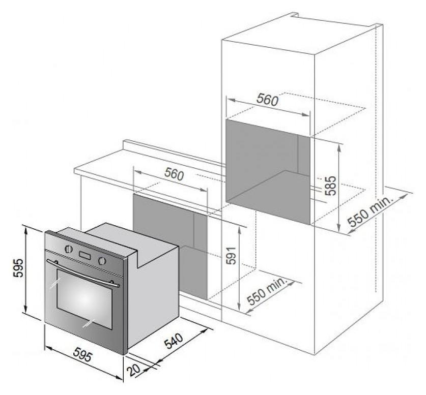 DE LONGHI forno ad incasso elettrico multifunzione NERO FLM6N