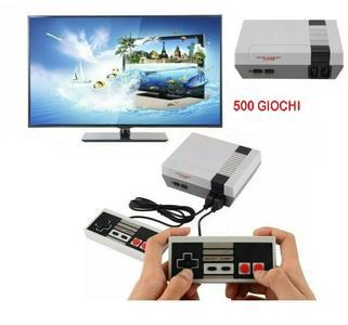 MINI GAME 500 GIOCHI CONSOLE JOYSTICK CLASSICI ANNI 80/90