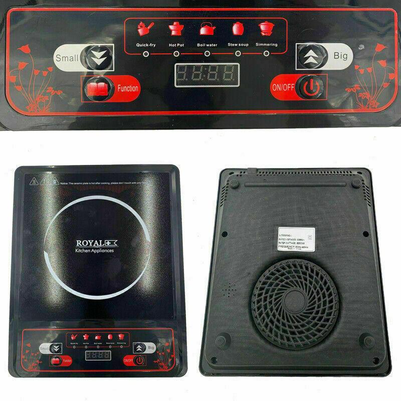 Piastra induzione piano cottura cucina fornello elettrico portatile 2000W