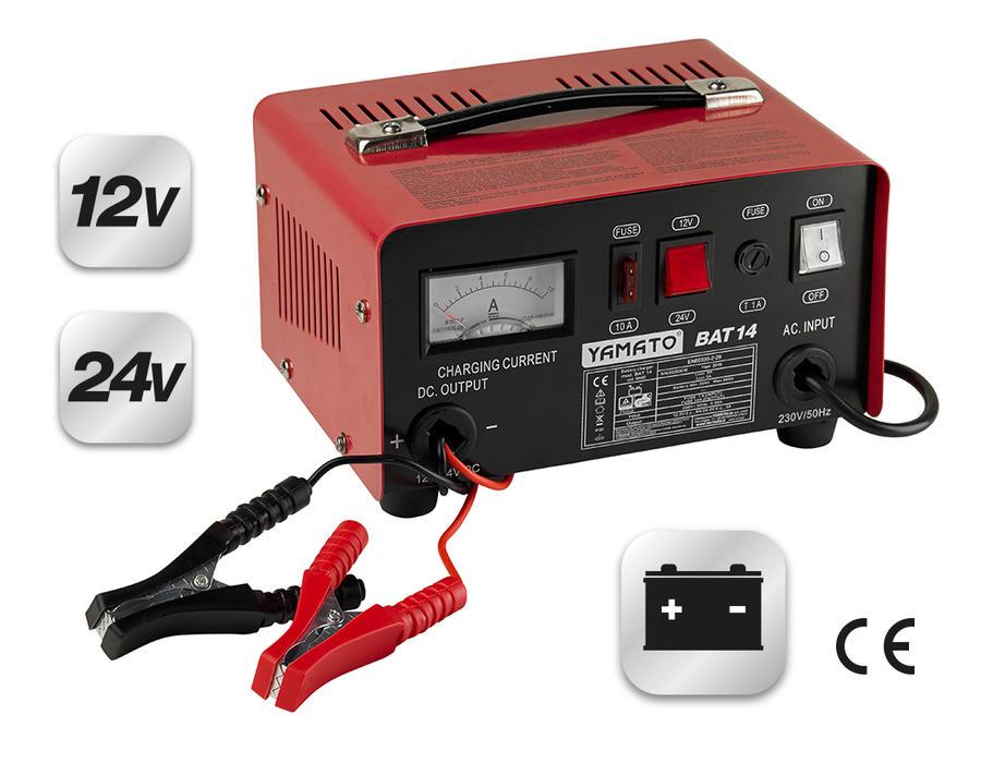 Caricabatterie portatile  MOD. BAT 14  YAMATO  6A/3A – 12V/24V cod 98485