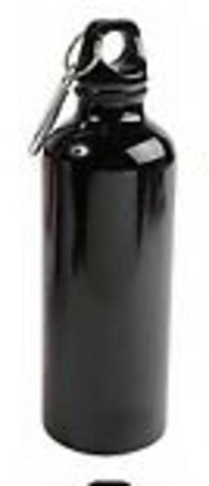 Borraccia Alluminio, 700 ml, NERA, personalizzabile