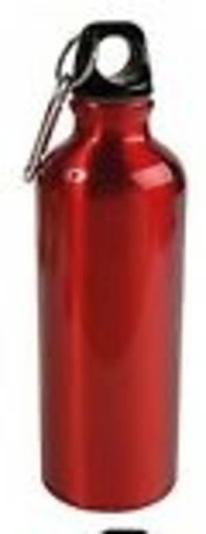 Borraccia Alluminio, 700 ml, ROSSA, personalizzabile