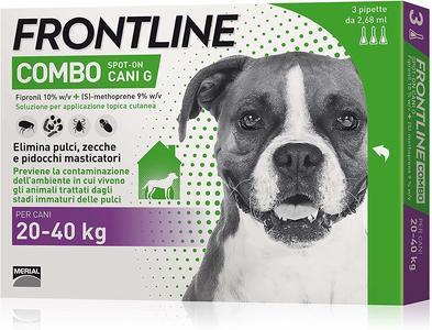 Frontline Combo Per Cani 40 KG Antiparassitario Repellente Zecche Pulci Pidocchi