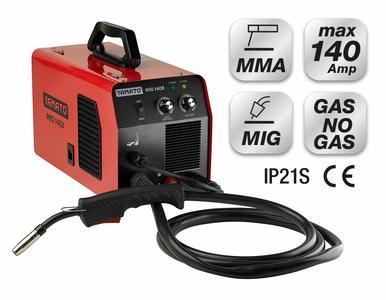 Saldatrice INVERTER MIG 140X YAMATO filo continuo ed animato + elettrodo cod 98483 + accessori