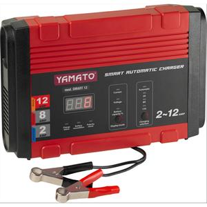 Caricabatterie per auto YAMATO SMART 12 INVERTER 12V 2/8/12A con display cod 98488