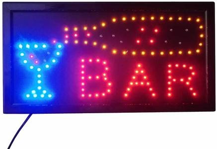 INSEGNA LUMINOSA CON SCRITTA BAR SCRITTA LUMINOSA TABELLA A LED