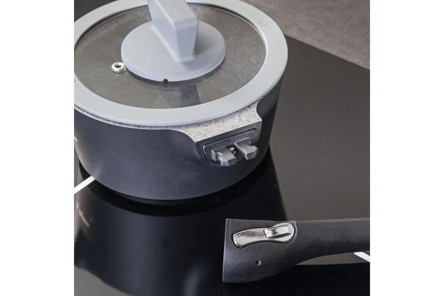 Batteria di pentole 8 pz. TOGNANA AMBIZIOSA in Granito Titanio Esterno Grigio-Tognana in titanio ad induzione modello nuovo