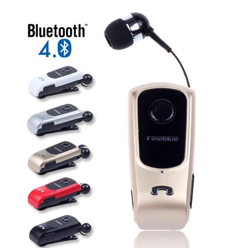 Auricolari Retrattile Fineblue Bluetooth 4.0 Wireless Headset Clip Cuffie