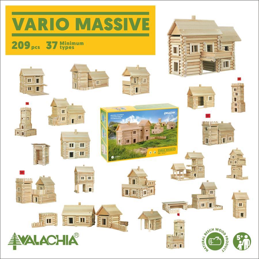 Costruzioni in Legno Naturale per Bambini Kit da 209 pezzi Walachia - Offerta