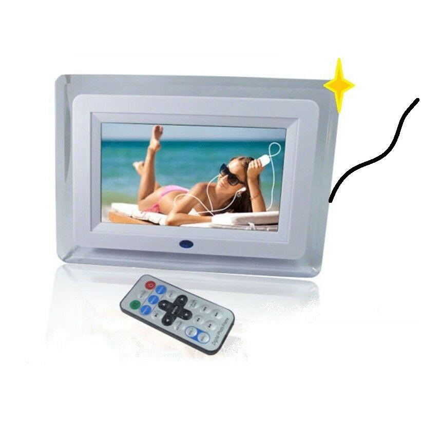 CORNICE DIGITALE BIANCA O NERA TELECOMANDO 7'' AVI VIDEO USB FOTO JPG SD MP3