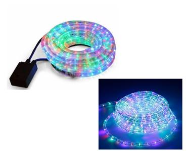 TUBO LED LUCI NATALE LUMINOSO E IMPERMEABILE ESTERNO MULTICOLOR RGB 10/20 METRI