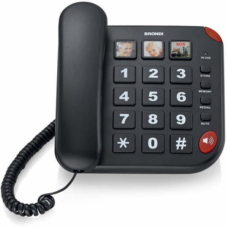 BRONDI Bravo 15 telefono fisso NERO