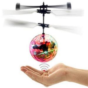 MINI ELICOTTERO DRONE PALLA SFERA VOLANTE GIOCATTOLO AIRCRAFT LUMINOSO GIOCOFLYING