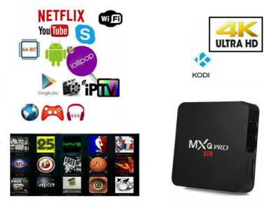 TV BOX ANDROID IPTV 4K 4GB RAM 32 Rom WIFI MXQ PRO SMART DECODER FULL HD 1080P