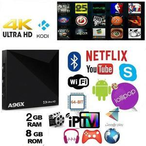 SMART IPTV BOX A96X 4K Android 6.0 Penta Core 64bit WiFi 8GB/2GB MiniPC FILM