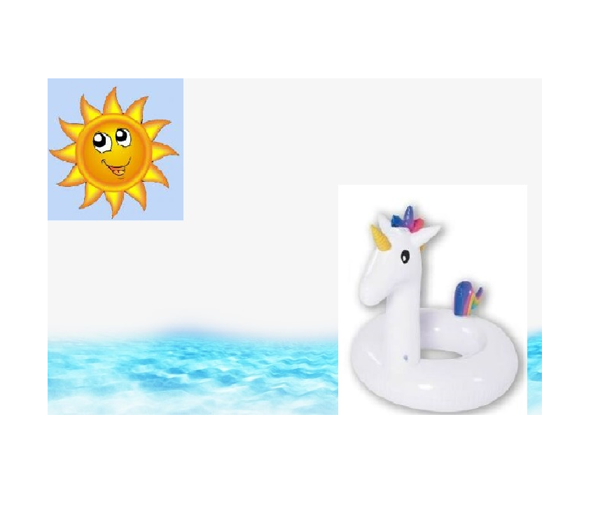 Unicorno Salvagente Gonfiabile Ciambella Mare Piscina Per Nuotare e Galleggiare