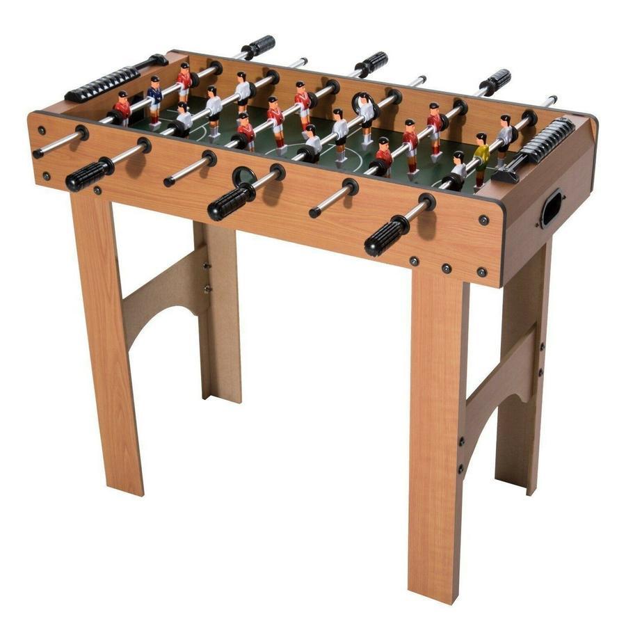 Biliardino con Aste in Legno Calcio Balilla per Ragazzi tabletop palline