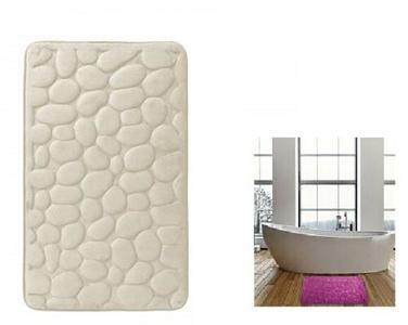 Tappeto Antiscivolo Sassolini 50x80 cm da Bagno Soffice Memory Foam Vari Colori
