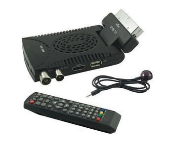 DECODER DIGITALE TERRESTRE MINI DTV DVB T2 HDMI SCART 180 USB 333 TELECOMANDO