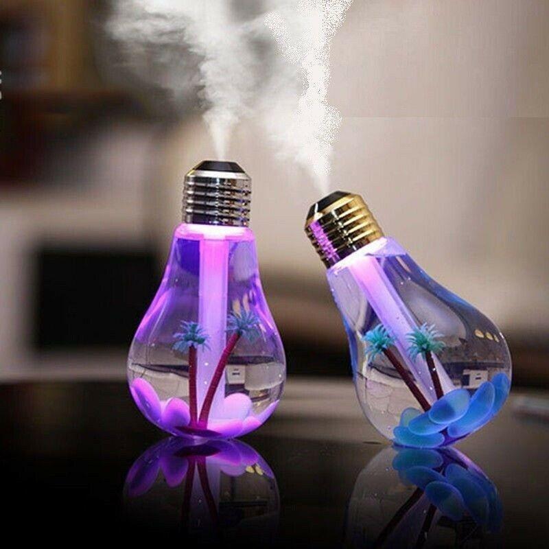 Umidificatore Diffusore a forma di lampadina con nebbia regolabile
