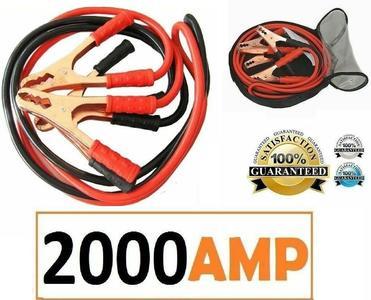CAVI AVVIAMENTO BATTERIA PER AUTO CAMPER MOTO 2000 AMP COLLEGAMENTO EMERGENZA