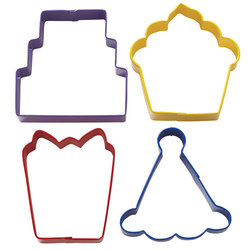 Set 4 tagliabiscotti decoro party wilton