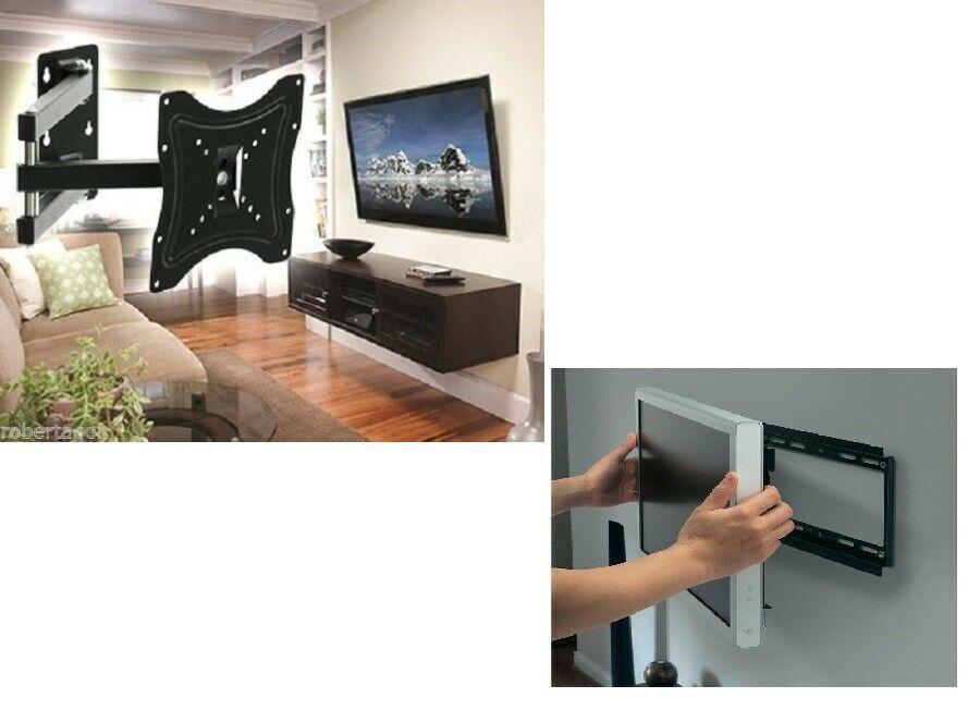 SUPPORTO BRACCIO STAFFA TV LCD PLASMA LED TELEVISORE DA 14 A 55 POLLICI 117B-2